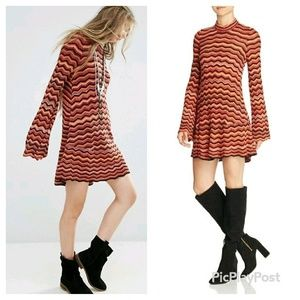 Free People Ziggy Sweater dress red size S/P